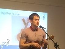 "Luke performing ""Together Forever"""