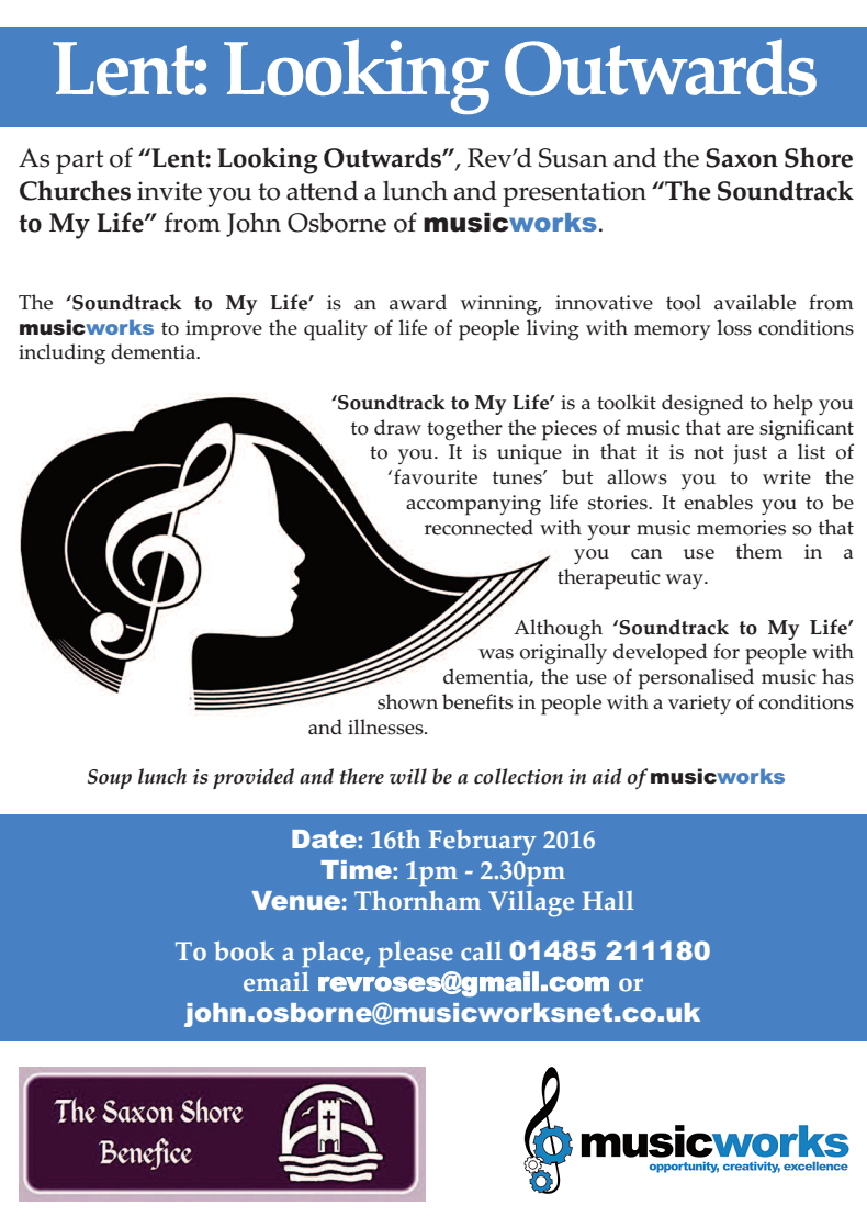 "Lent: Looking Outwards – ""The Soundtrack to My Life"" Event"